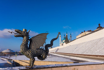 The Kazan Kremlin and dragon Zilant - the symbol of the city. Ka