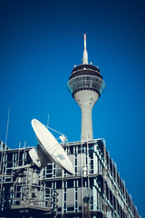 Telecommunication Satellites.  TV Tower