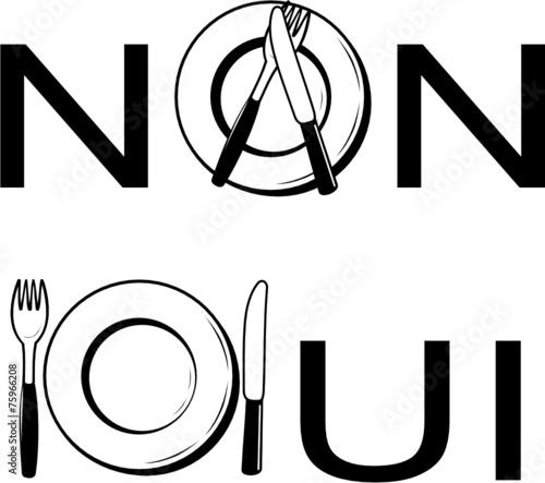 OUI - NON ASSIETTE - 75966208