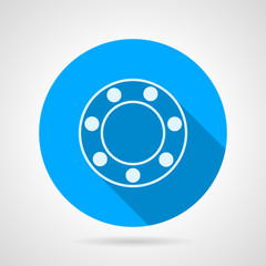Ball bearing flat vector icon