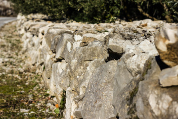 old style stone wall