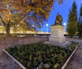 Statue of Jean-Jacques Rousseau, Geneva, Switzerland