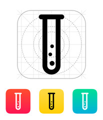 Test tube with gas icon. Vector illustration.