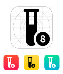 Test tube with number icon. Vector illustration.