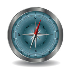 Vector compass illustration isolated on white background