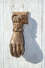 Doorknocker on allwood door
