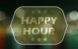 happy hour - abstract background