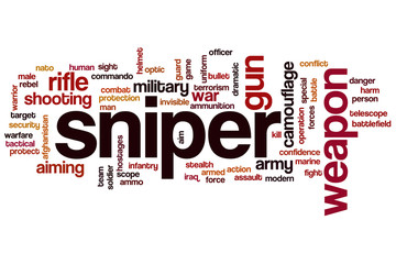 Sniper word cloud