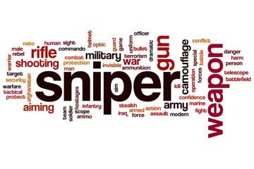 Sniper word cloud