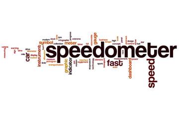 Speedometer word cloud