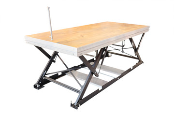 professional lift table in the atelier