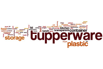Tupperware word cloud