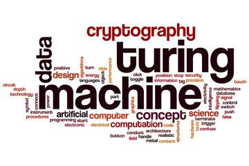 Turing machine word cloud