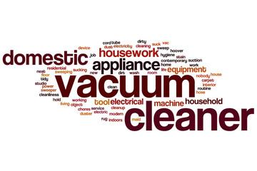 Vacuum cleaner word cloud