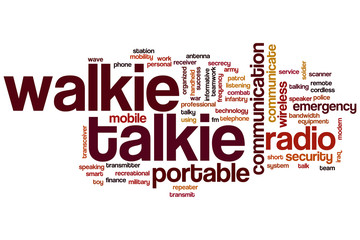 Walkie talkie word cloud