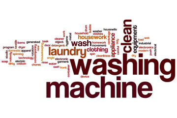 Washing machine word cloud