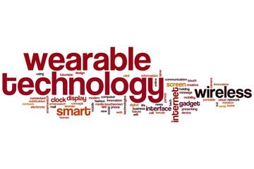 Wearable technology word cloud