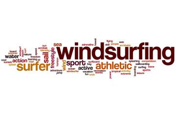 Windsurfing word cloud