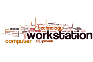 Workstation word cloud