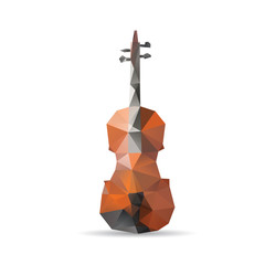 Violin isolated on a white backgrounds