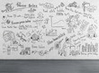 business plan drawing on wall