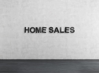 black home sales text