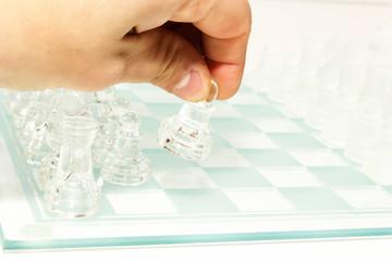 scacchiera in vetro