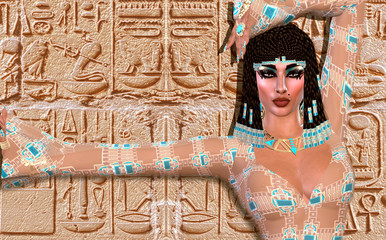 Cleopatra, modern digital art version, Egyptian