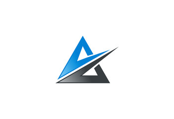 triangle abstract construction logo