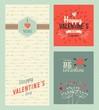 Obrazy na płótnie, fototapety, zdjęcia, fotoobrazy drukowane : Happy Valentines day greeting cards