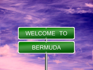 Bermuda Welcome Travel Sign