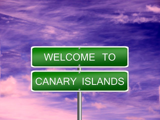 Canary Islands Travel Sign