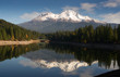Mt Shasta Reflection Mountain Lake Modest Bridge California - 75972637
