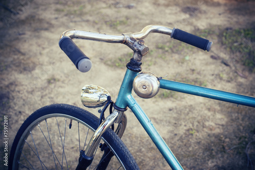 Foto op Aluminium Fiets Closeup of handlebar a bike old
