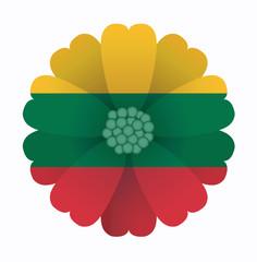 Flag flower Lithuania