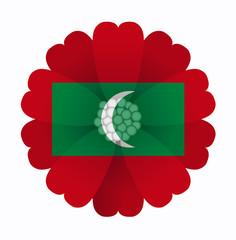 Flag flower Maldives