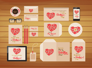 brand identity valentines style retro