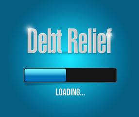 debt relief loading bar illustration design