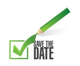 Fototapety save the date check mark pencil illustration