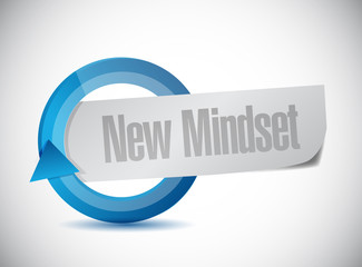 new mindset cycle sign illustration design