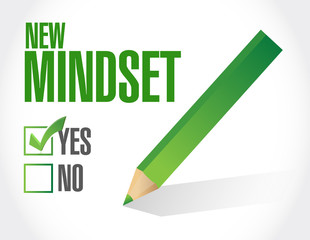 new mindset check list illustration