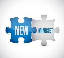 new mindset puzzle pieces illustration