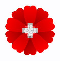 Flag flower Switzerland