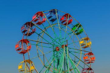 Thailand Ferris wheel old style.