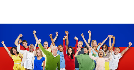 Russia Diversity Ethnic Variation Unity Concept