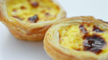 portuguese egg tarts rotating