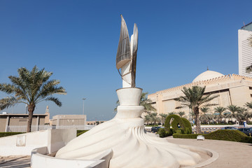 Monument in the city of Kuwait, Middle East