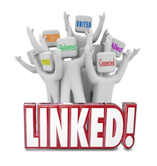 Linked Words Connected Allied United Referrals People Networking