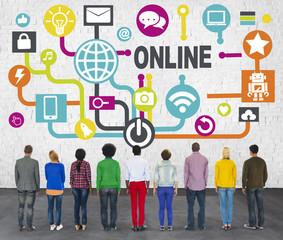 Global Communication Social Network Technology Concept