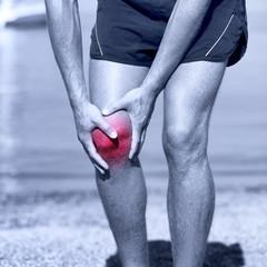 Knee Injury - sports running knee injuries on man